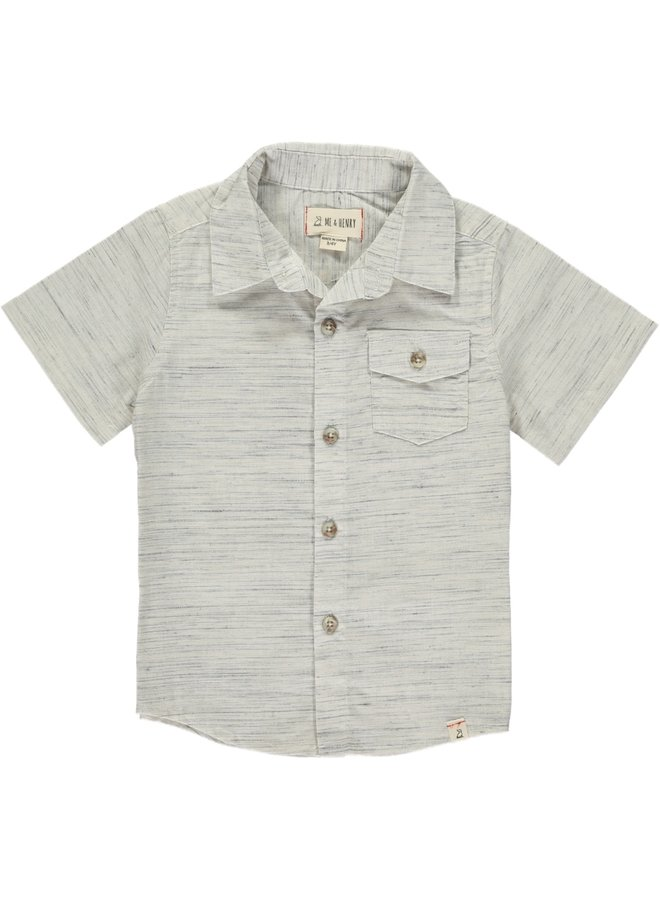 Grey/white fleck S/S shirt