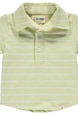 Lime/white stripe polo