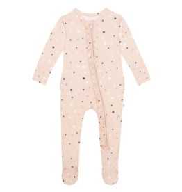 Star - Ruffled Zippered Footie