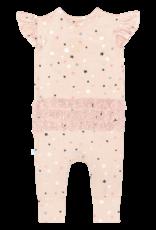 Star - Ruffled Capsleeve Romper