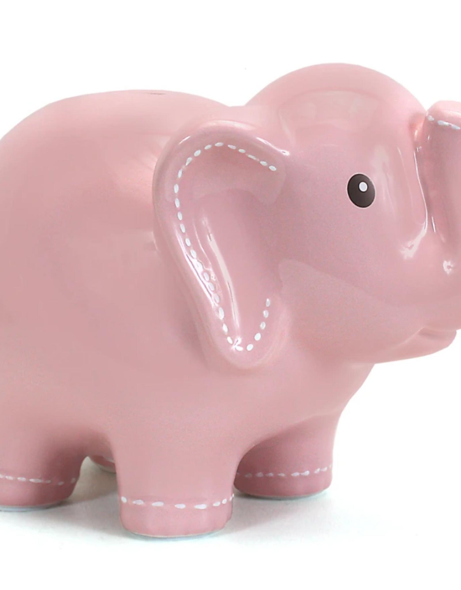 Child to Cherish Large Stitched Elephant Bank - Pink