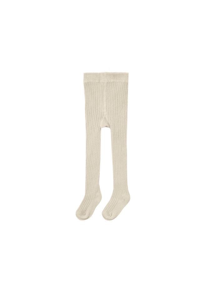 Rib Knit Tights - Natural
