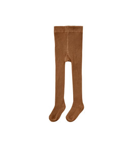 Rylee + Cru Rib Knit Tights - Cinnamon