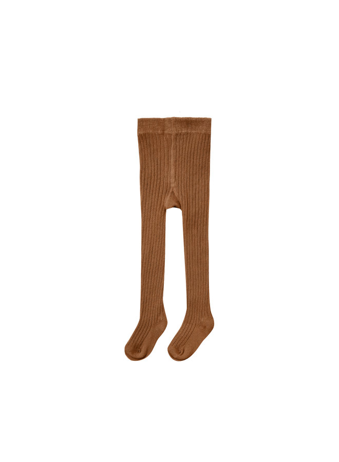 Rib Knit Tights - Cinnamon