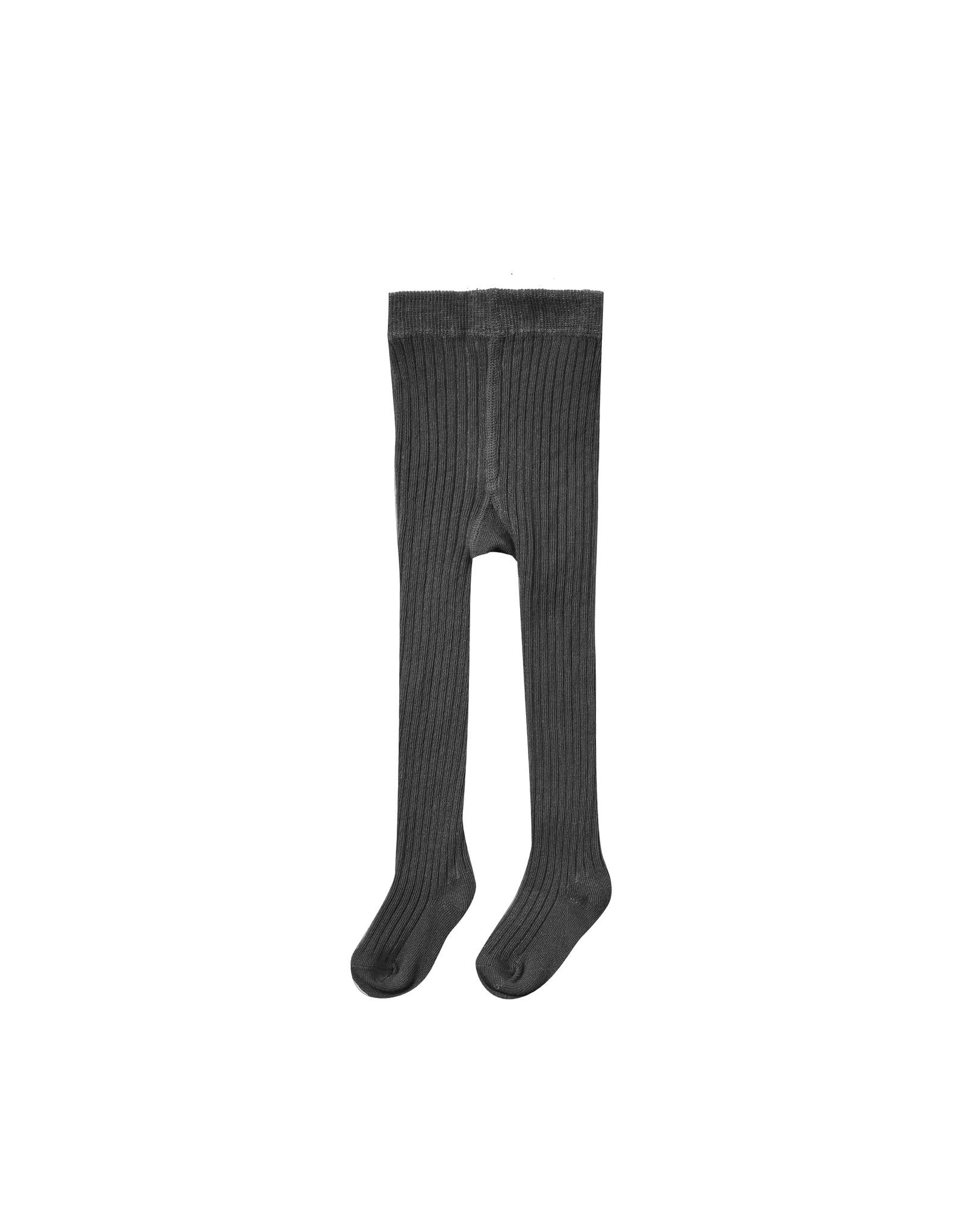 Rylee + Cru Rib Knit Tights - Vintage Black