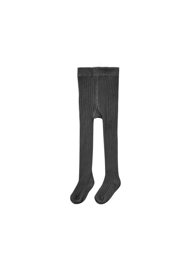 Rib Knit Tights - Vintage Black