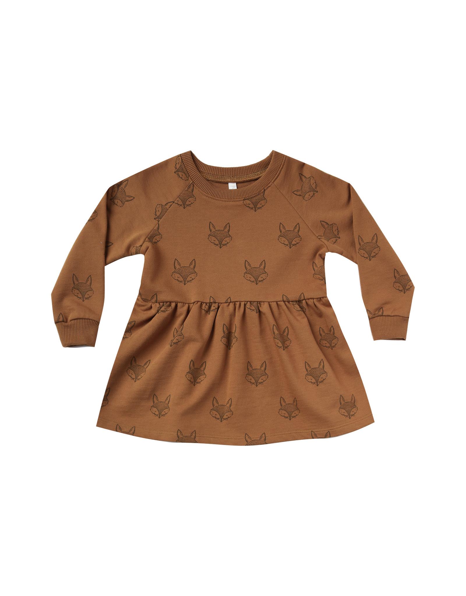 Rylee + Cru Fox Raglan Dress - Cinnamon