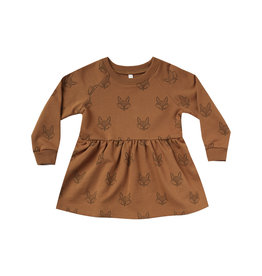 Rylee + Cru Fox Raglan Dress - Cinnamon