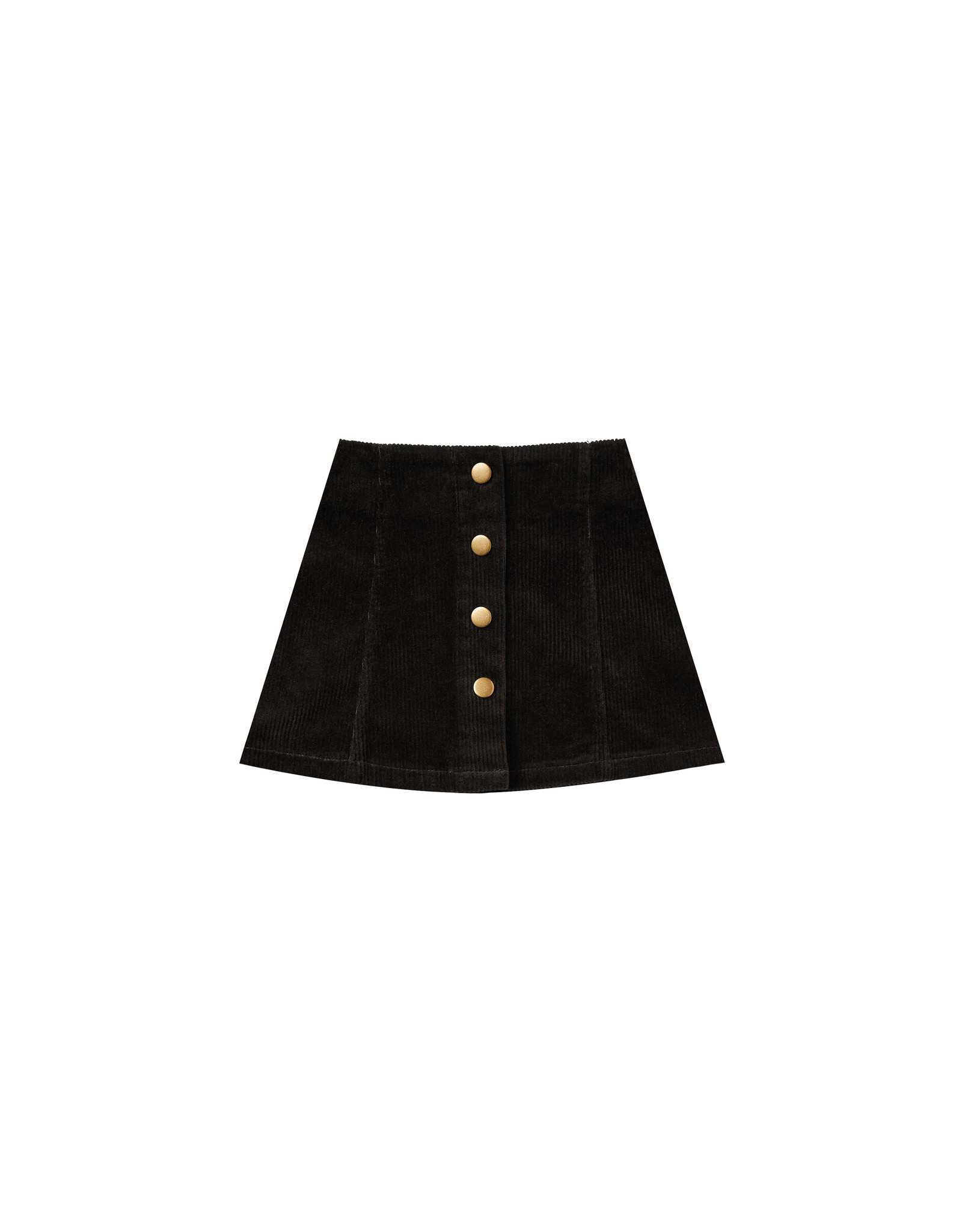 Rylee + Cru Corduroy Mini Skirt - Vintage Black