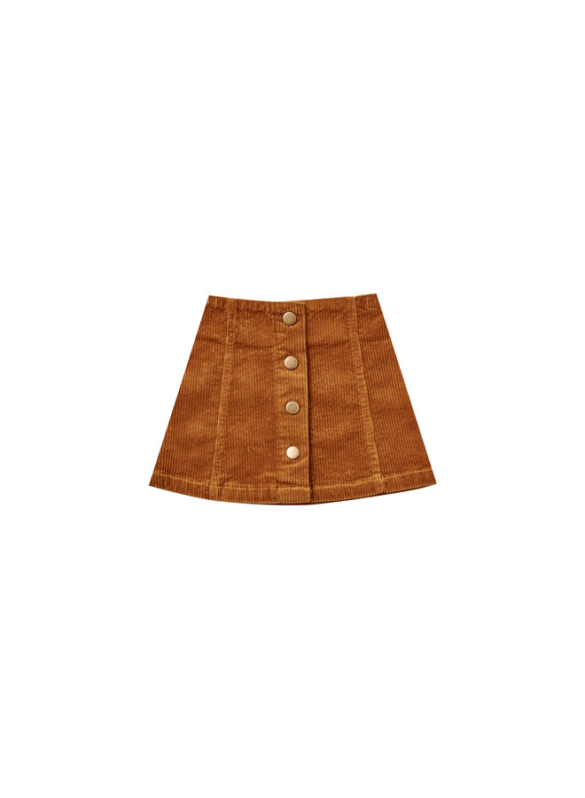 Corduroy Mini Skirt - Cinnamon