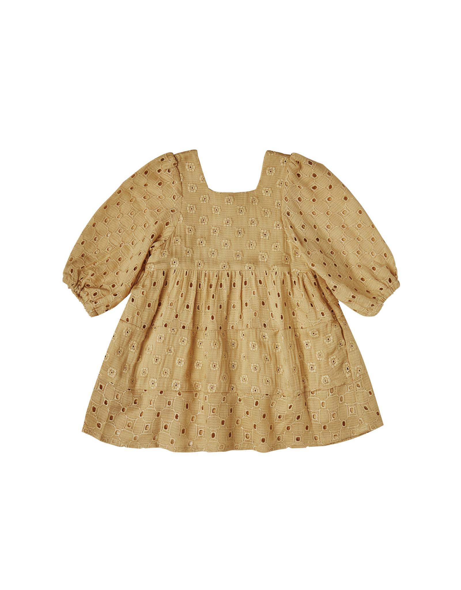 Rylee + Cru Gretta Baby Doll Dress - Goldenrod