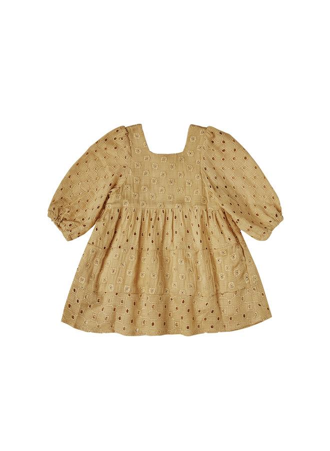 Gretta Baby Doll Dress - Goldenrod