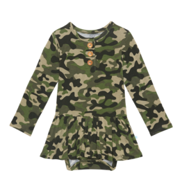 Cadet - Long Sleeve with Twirl Skirt Bodysuit
