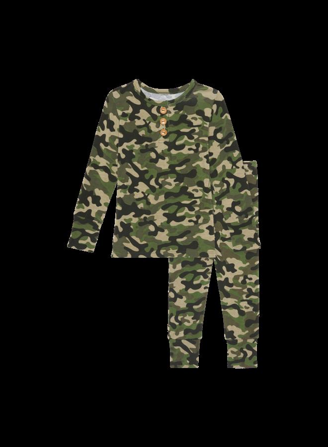 Cadet - Long Sleeve Henley Loungewear