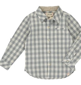 Grey/ White Plaid Button Down