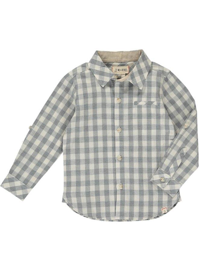 Grey/ White Plaid Button Down
