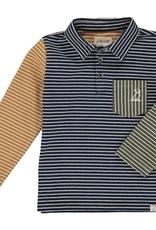 Navy/ Multi Striped Polo