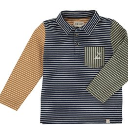 Navy/ Multi Striped Polo