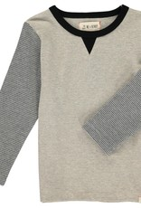 Grey Stripe Lightweight Sweatshirt