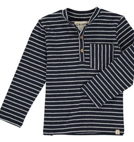 Navy Stripe Henley Tee