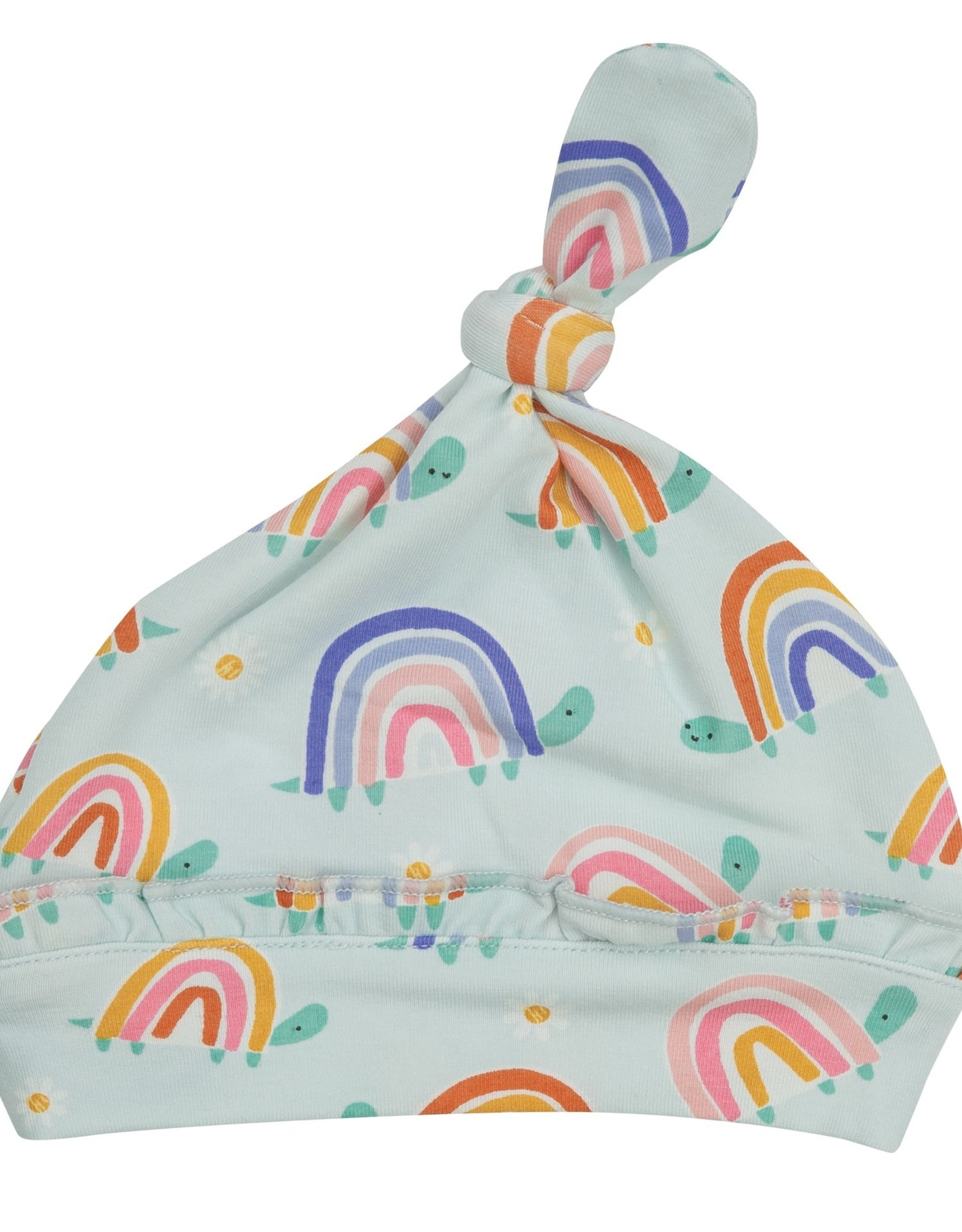 Rainbow Turtle Knotted Hat