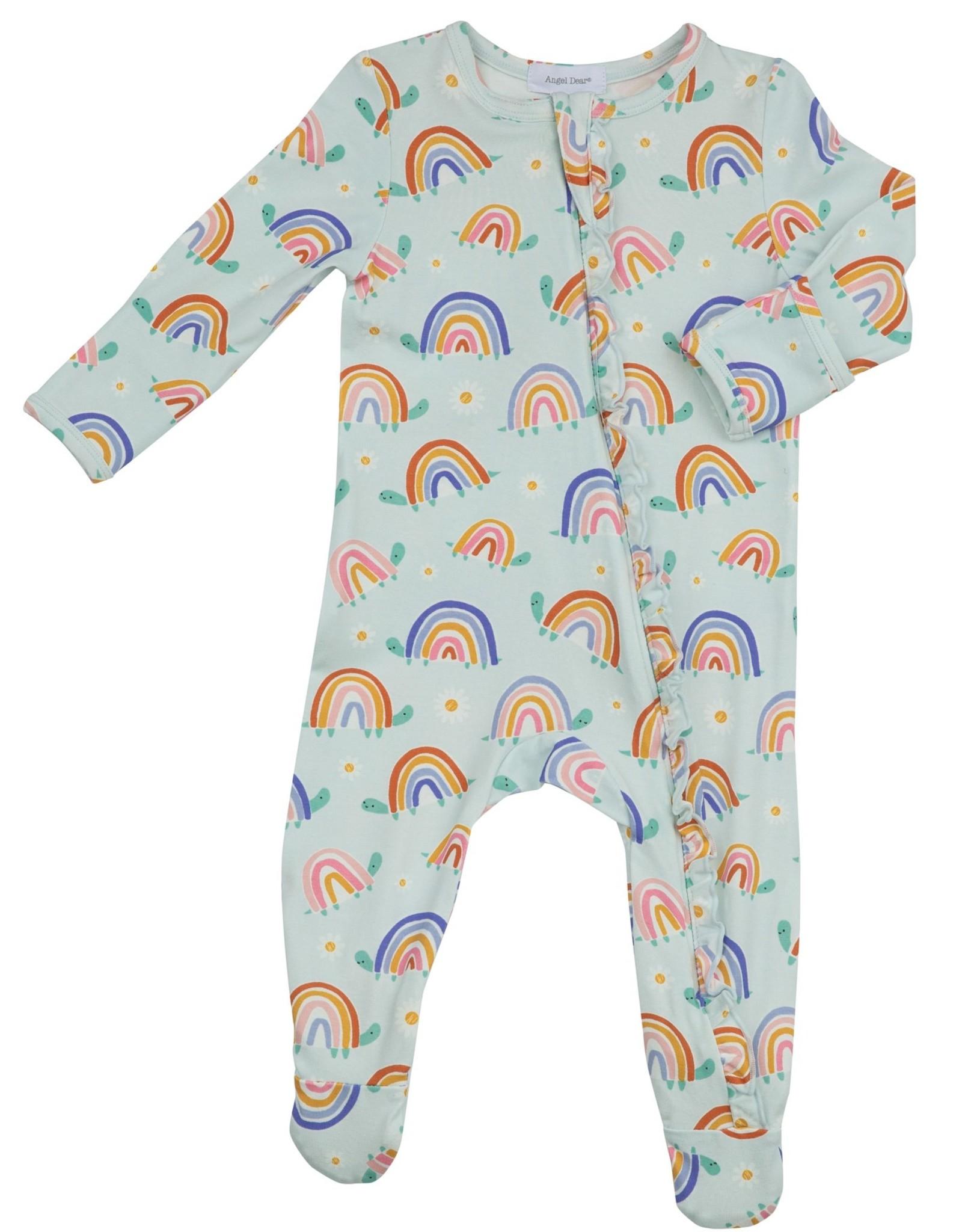 Rainbow Turtles Zipper Footie