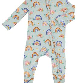 Rainbow Turtles Zipper Footie