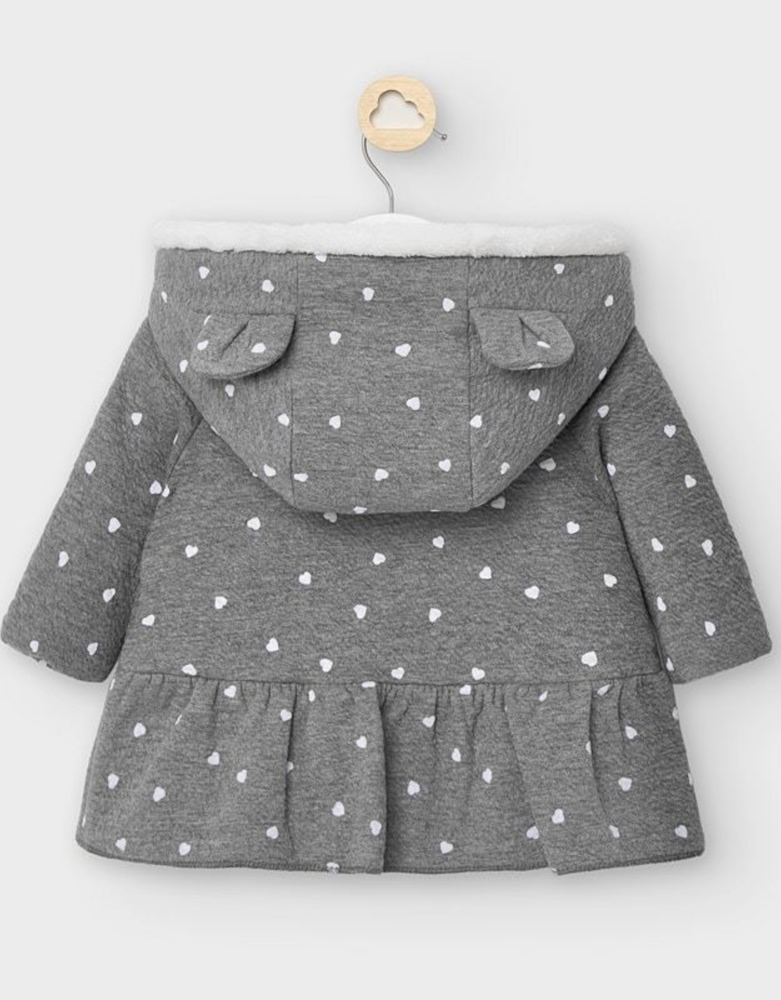 Gray Heart Peplum Jacket