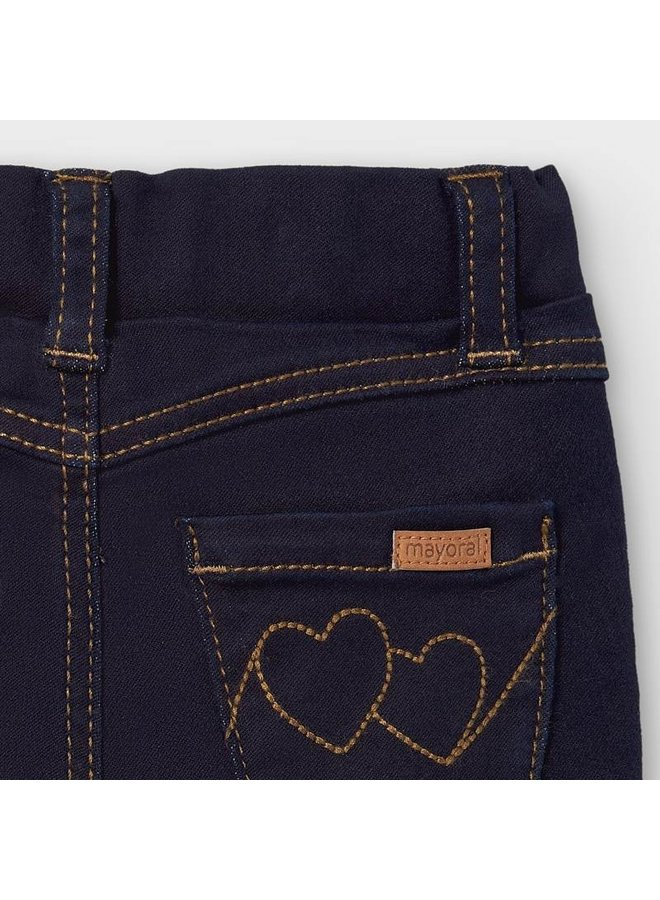 Super Skinny Dark Denim - Two Heart Pocket