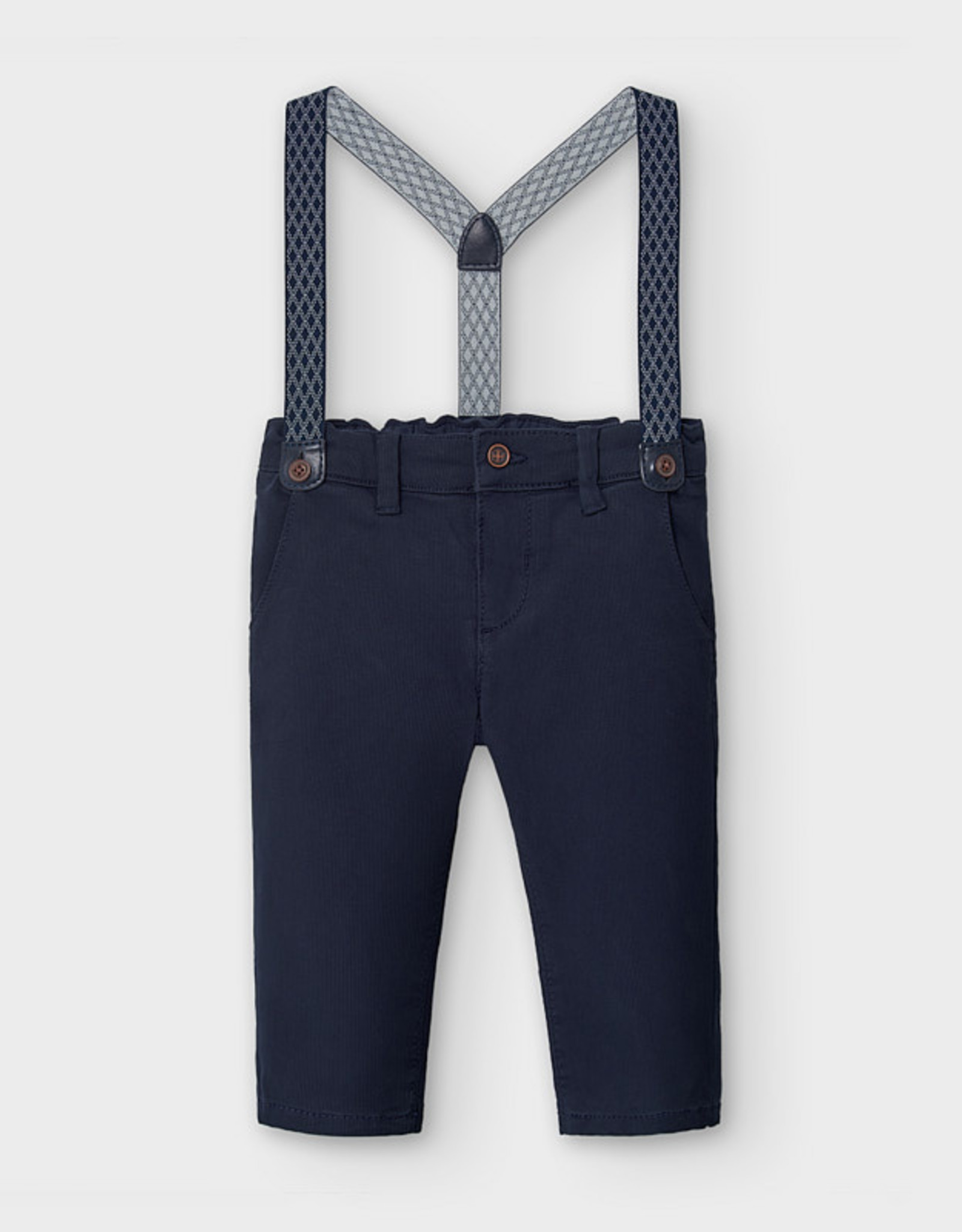 Slim Cord Navy Chino w Removable Suspenders