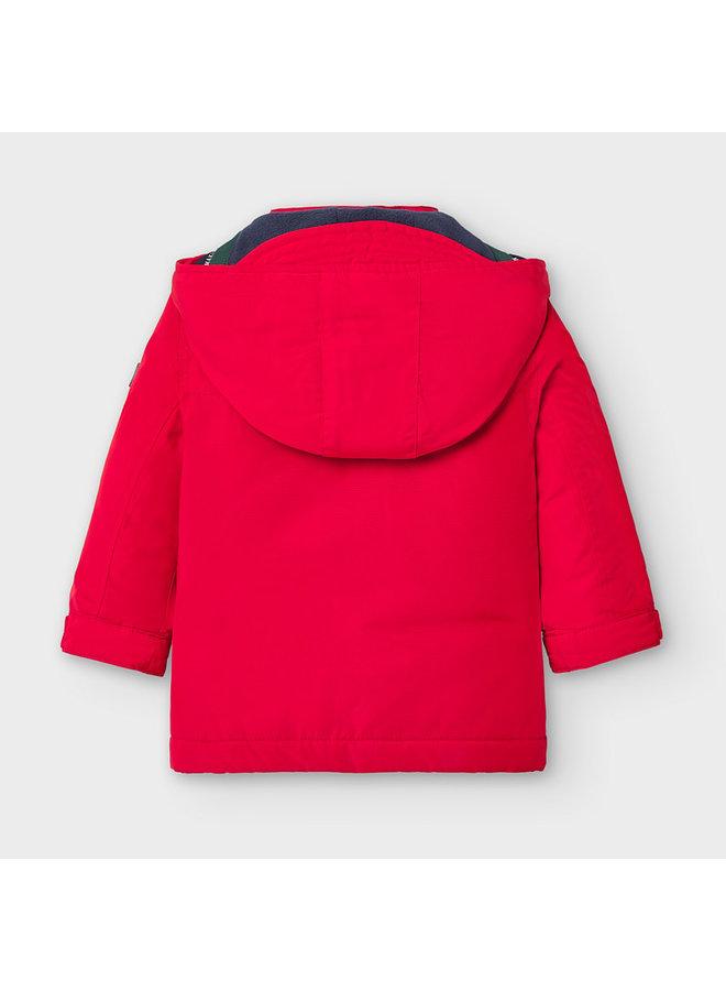 Red Parka w Removable Vest