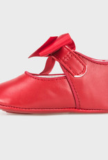Red Satin Bow Mary Jane
