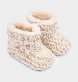 Infant Girl Tan Shimmer Boot
