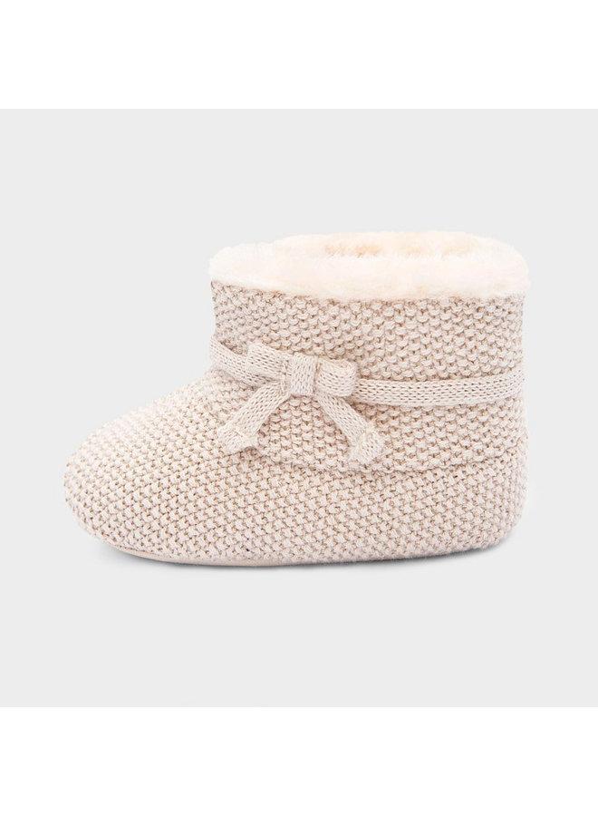 Infant Girl Tan Shimmer Boot