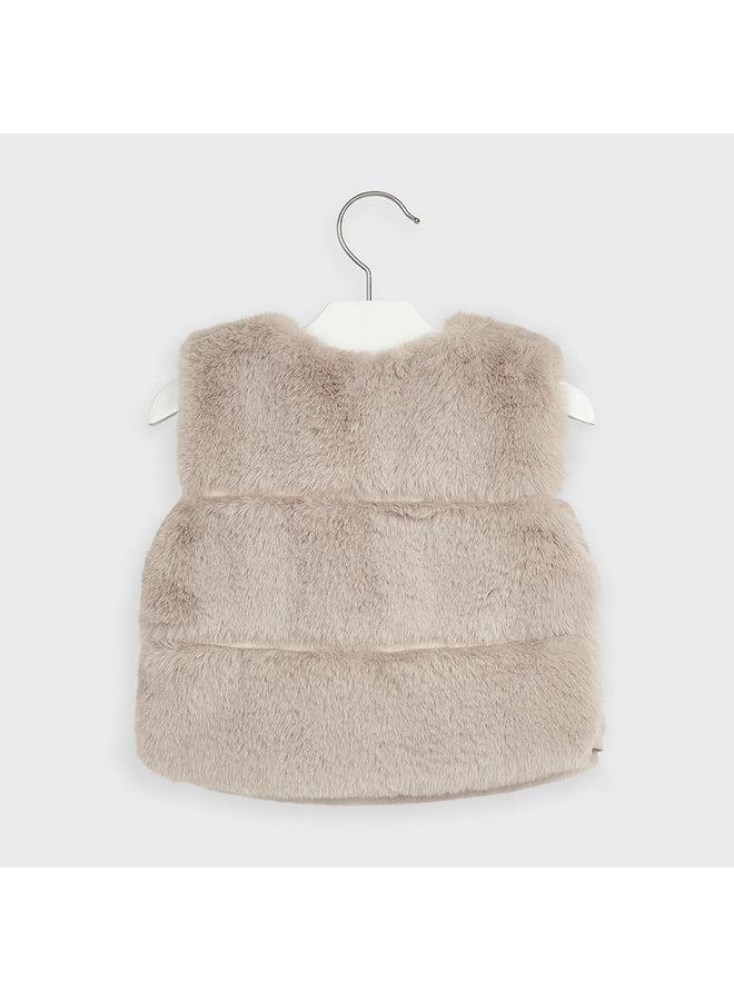 Sand Faux Fur Vest
