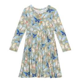 Lucy - Lounge Sleeve Henley Twirl Dress