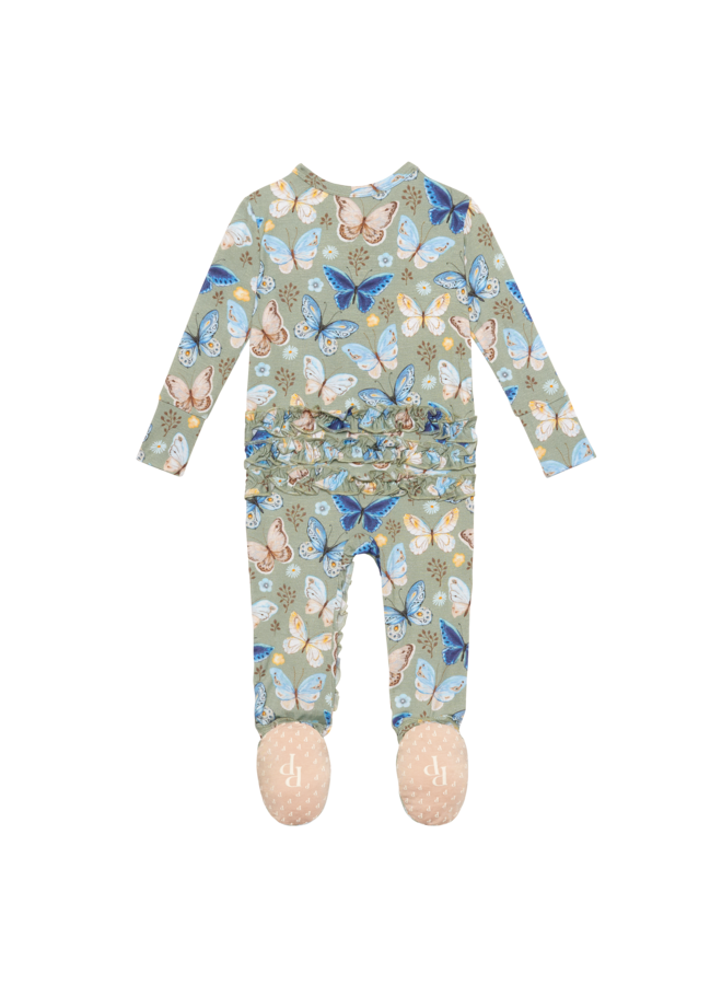 Lucy - Ruffled Zippered Footie