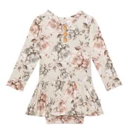 Daniella - Long Sleeve Henley with Twirl Skirt Bodysuit