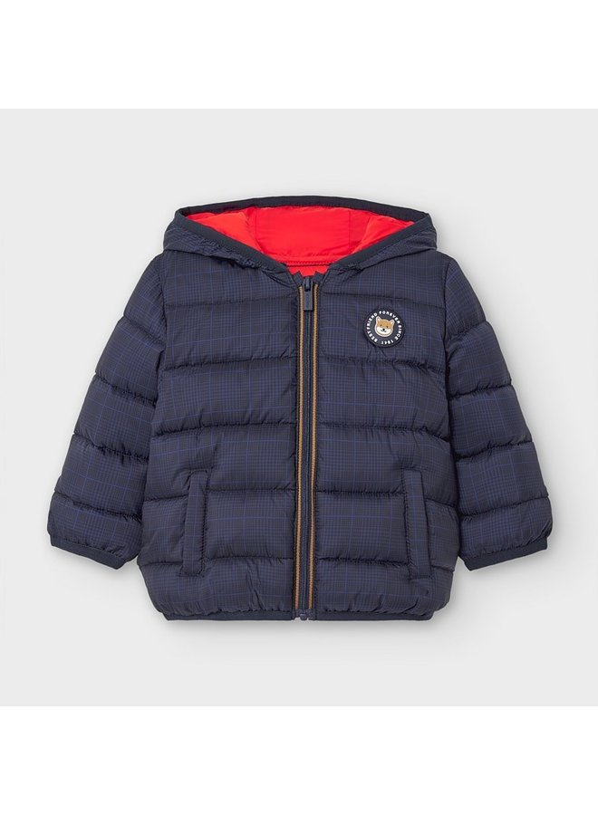 Navy Packable Puffer Jacket w Bag