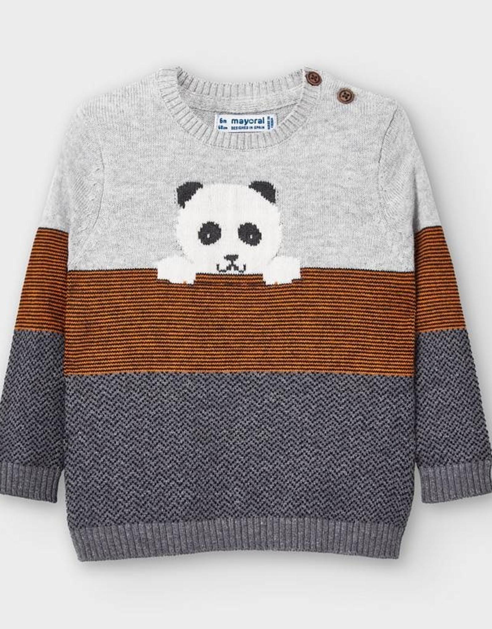 Panda Striped Sweater