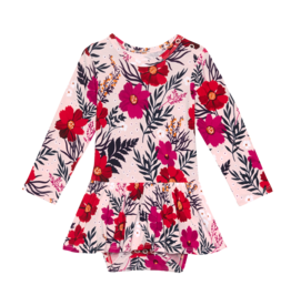 Chloe - Long Sleeve with Twirl Skirt Bodysuit