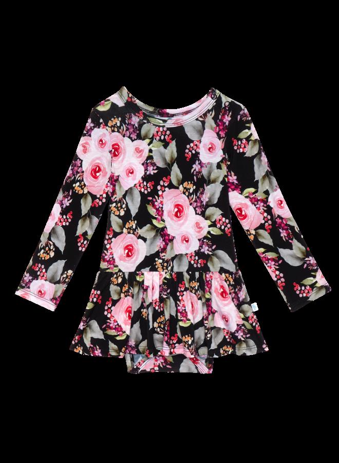 Milana - Long Sleeve Twirl Skirt Bodysuit