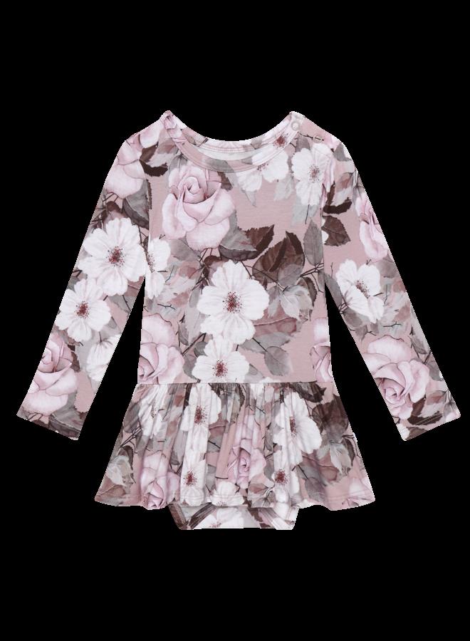 Nikki - Long Sleeve Twirl Skirt Bodysuit