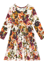 Corinne - Long Sleeve Henley Twirl Dress