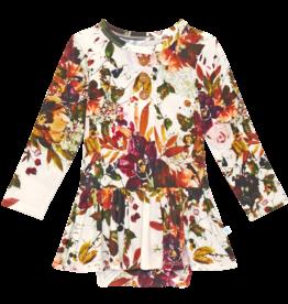 Corinne - Long Sleeve Henley Twirl Skirt Bodysuit