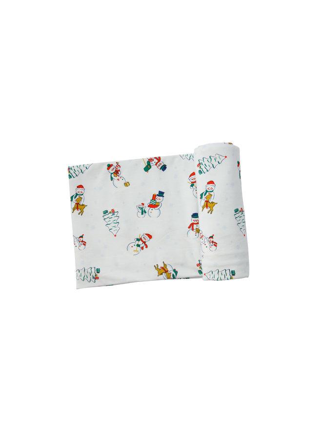 Snowfolk Swaddle Blanket