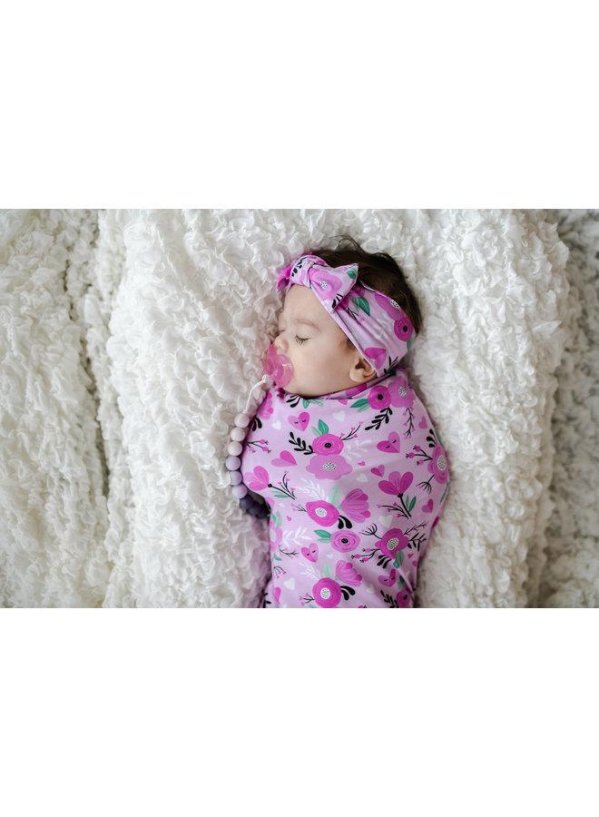 Sweetheart Floral Swaddle & Headband