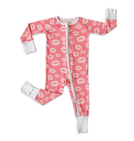 Little Sleepies Pink Kisses Romper