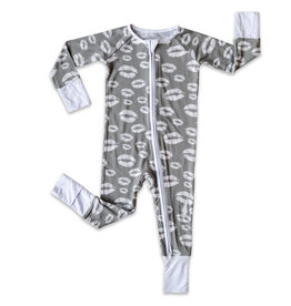 Little Sleepies Gray Kisses Romper