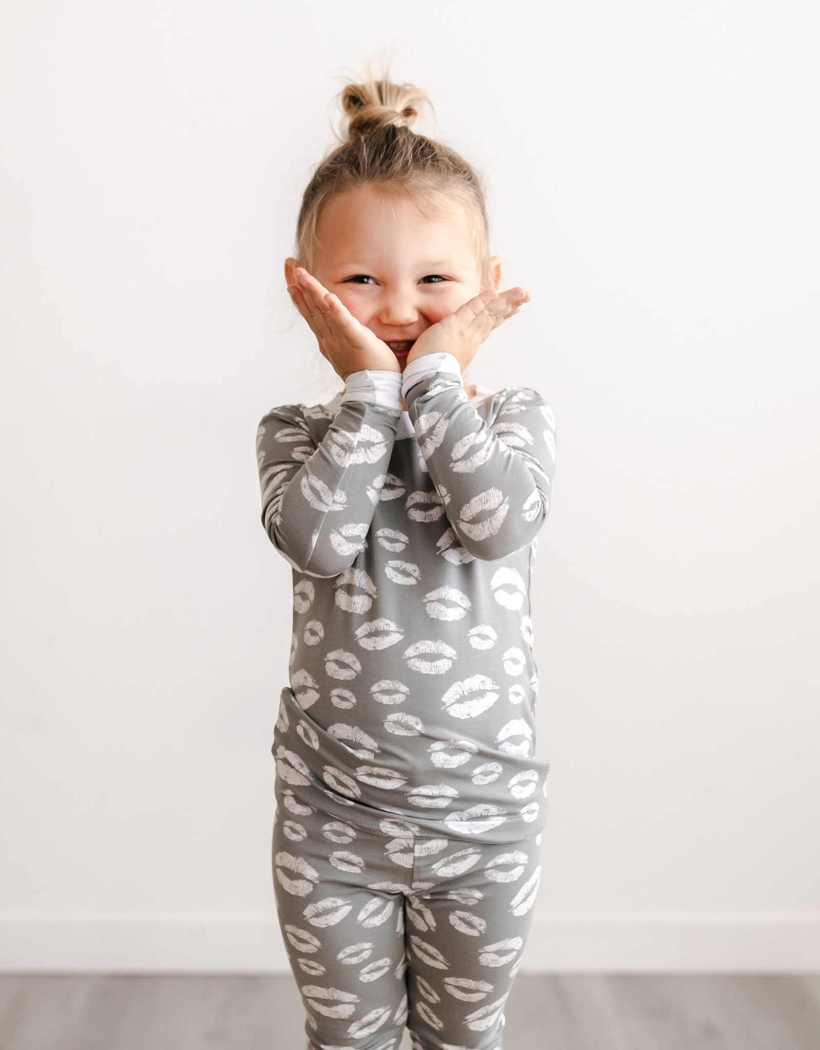 Little Sleepies Gray Kisses Pajama
